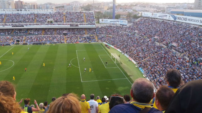 Momento previo al gol de Dani Güiza en Alicante.