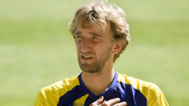 Diego Rivas en su etapa como jugador del Cádiz CF