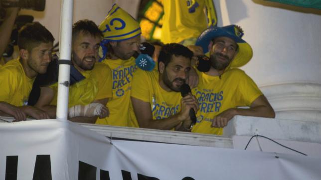 Güiza, en la imagen celebrando el ascenso, se ha propuesto volver a ser protagonista la próxima temporada.