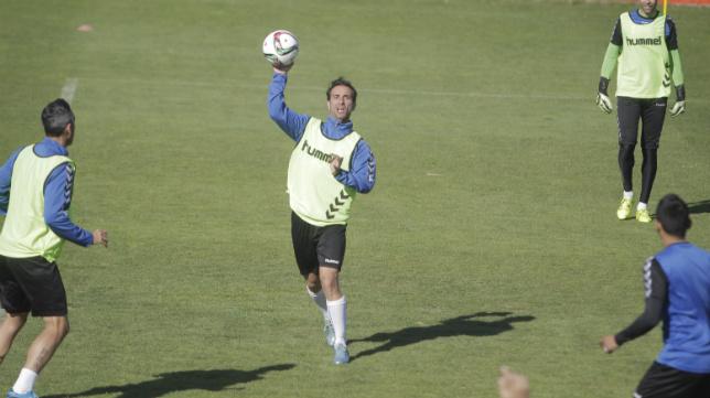 Jandro, en un entrenamiento celebrado en El Rosal.