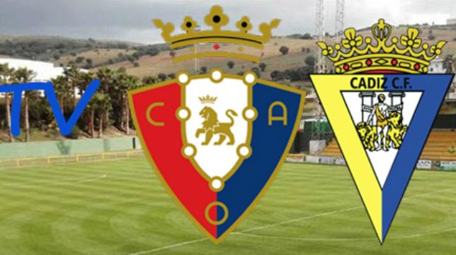 El duelo entre Cádiz CF y Osasuna televisado por la web oficial