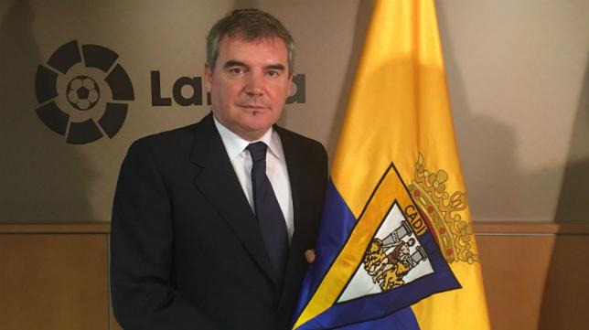 El presidente cadista Manuel Vizcaíno. / Foto: www.cadizcf.com