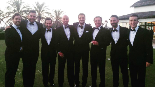 Güiza se casó rodeado de buenos amigos del Cádiz CF.