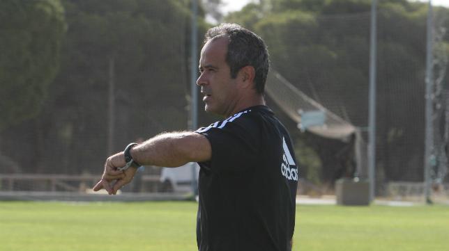 Álvaro Cervera, durante un entrenamiento reciente.