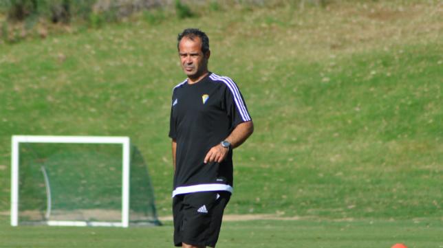 Álvaro Cervera, en un entrenamiento en Mijas. CCF