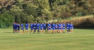 Los jugadores del Cádiz CF ya entrenan en Mijas (Foto: CCF)