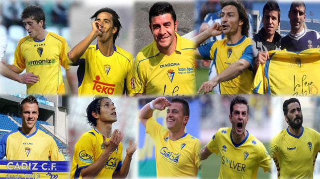 Las camisetas del Cádiz CF en los últimos diez años