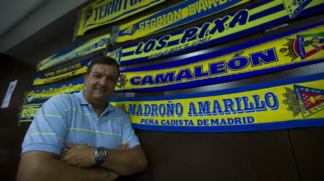 Fernando Arévalo, presidente de la Federación de Peñas del Cádiz CF.