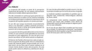 Punto 6.4 de la normativa de LaLiga