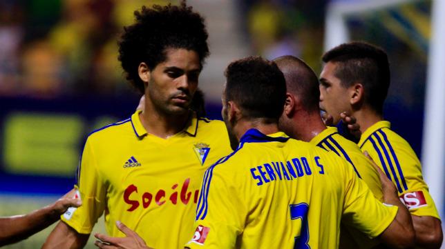 Aridane y Servando, defensas del Cádiz CF.