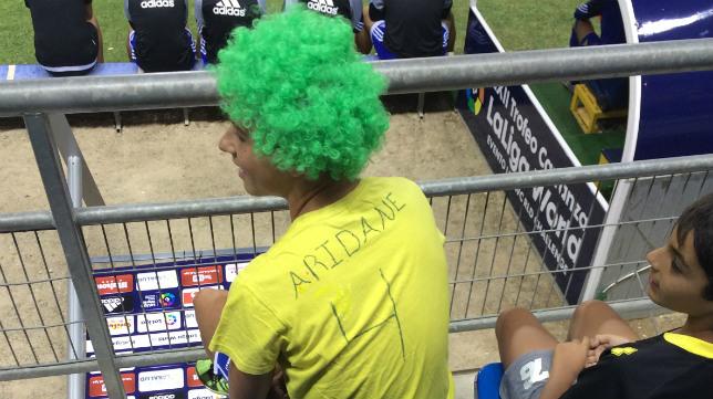 Un seguidor de Aridane en el Trofeo.