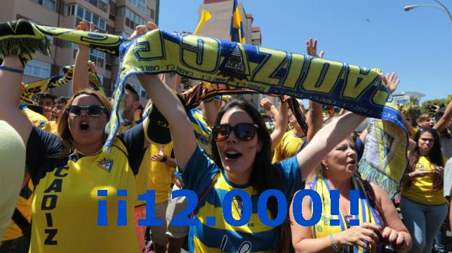 El Cádiz CF ha superado los 12.000 abonados