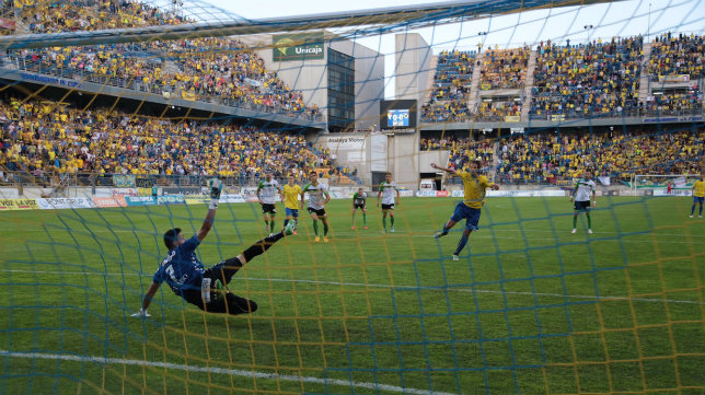 La grada de preferencia,, en el partido ante el Racing de 'play off'.