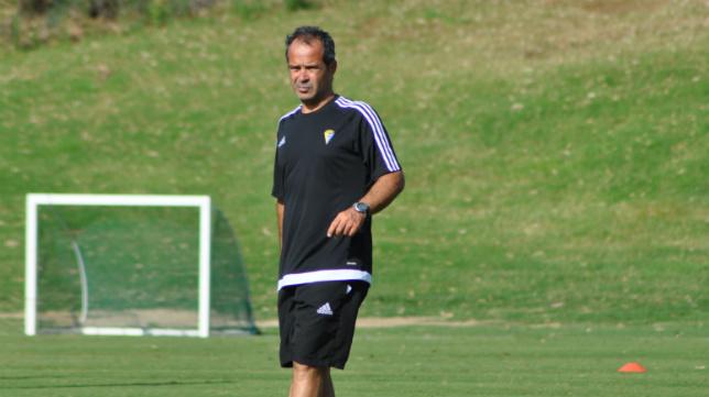 Álvaro Cervera, en un entrenamiento celebrado en Mijas este verano.