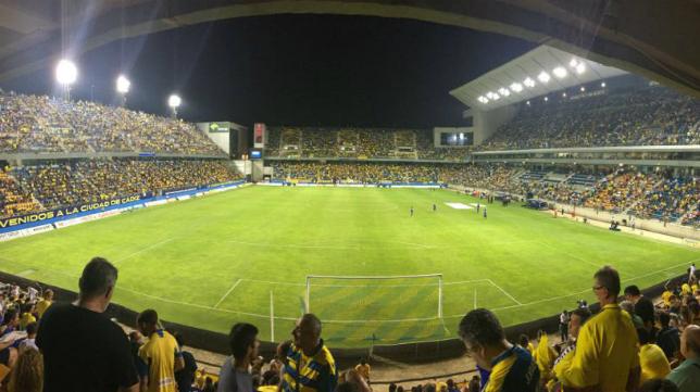 Imagen de las gradas de Carranza en el Cádiz vs Mallorca (Foto: A. Illescas)