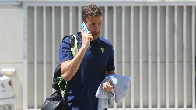Alberto Cifuntes, antes de partir hacia Almería.