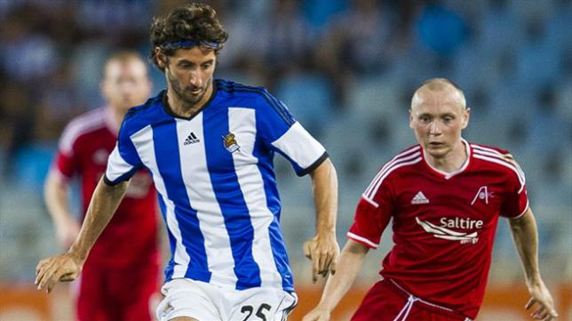 Esteban Granero en un partido con la Real Sociedad