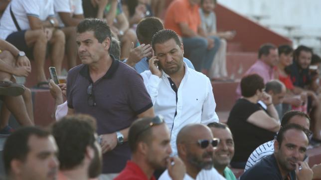 Juan Carlos Cordero en un partido de pretemporada