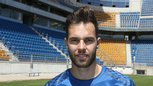El guardameta Jesús Fernández fue presentado como nuevo portero del Cádiz CF