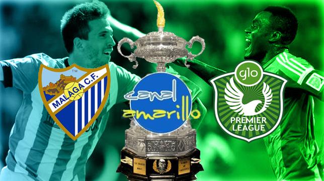 El Málaga y el combinado nigeriano juegan la segunda semifinal del Trofeo
