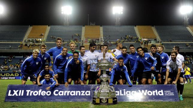 El Málaga, campeón del último Trofeo Carranza.