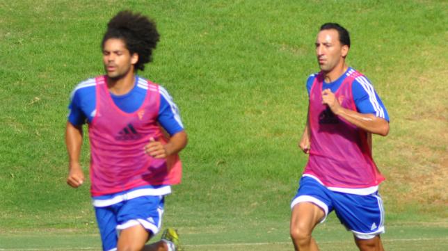 Migue corre junto a Aridane.