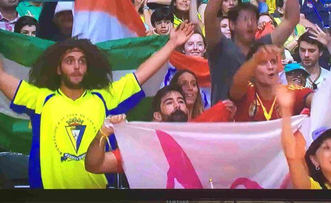 El joven seguidor cadista y fan de Aridane estuvo animando a la deporrtista española de bádminton en Rio.