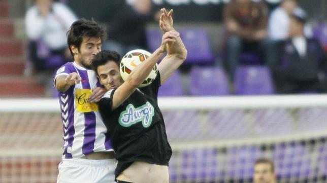 Rubén Cruz, en un partido con el Albacete ante el Valladolid.