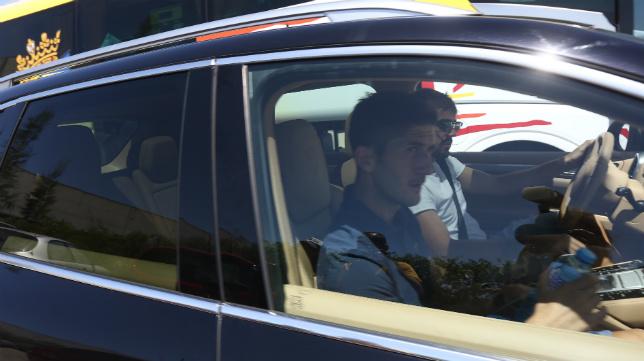 Fran Machado y Carlos Calvo salen en coche de El Rosal el mismo día que el equipo  partía hacia Almería.