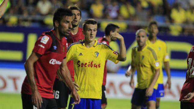 Salvi, en el partido ante el Mallorca de la segunda jornada.