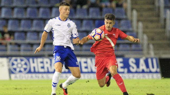 Imagen del partido entre el Tenerife y el Sevilla Atlético