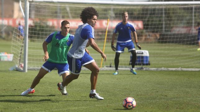 Aridane, durante un entrenamiento.