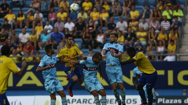 Imagen del partido de Copa del Rey entre el Cádiz CF y el Levante