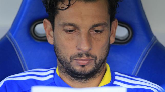 Mantecón en el banquillo de Carranza en su etapa en el Cádiz CF