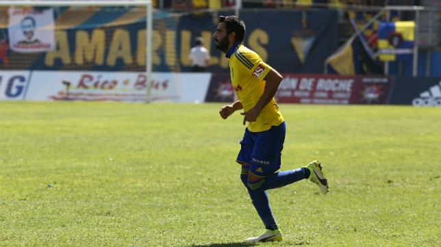 Dani Güiza en un partido con el Cádiz