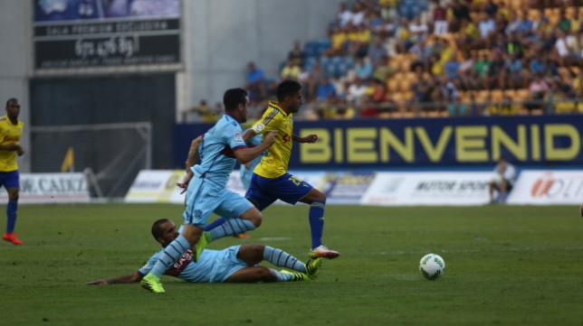 Nico Hidalgo en el Cádiz - Levante de esta temporada en Copa del Rey