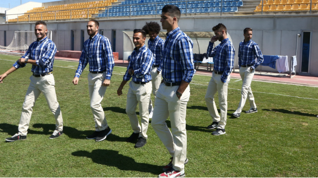Los futbolistas del Cádiz CF ya tienen la ropa de calle de la firma Spagnolo. :: francis jiménez