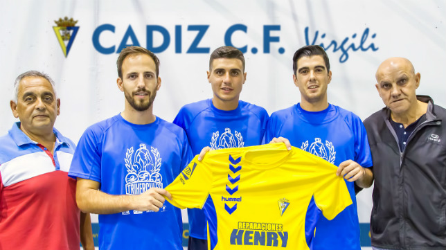 Los nuevos fichajes del Cádiz CF Virgili.