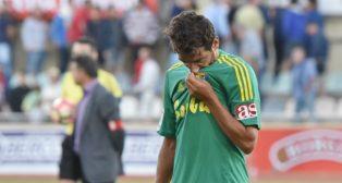 Carpio se lamenta al término del partido ante el Reus.