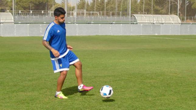 Gastón del Castillo en un entrenamiento en El Rosal (Foto: CCF)