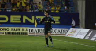 Jesús Fernández celebra el pase de ronda en Copa del Rey