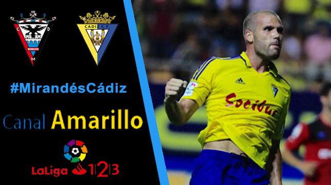 El Cádiz CF busca su primera victoria en Miranda de Ebro