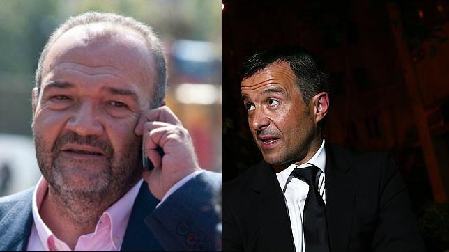 Joan Oliver, máximo accionista del Reus, y el representante portugués Jorge Mendes