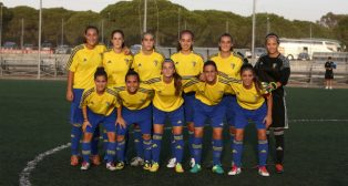 Imagen del primer once oficial del Cádiz CF Femenino.