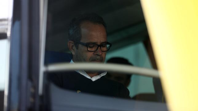 Álvaro Cervera, en el autobús camino de Lugo.