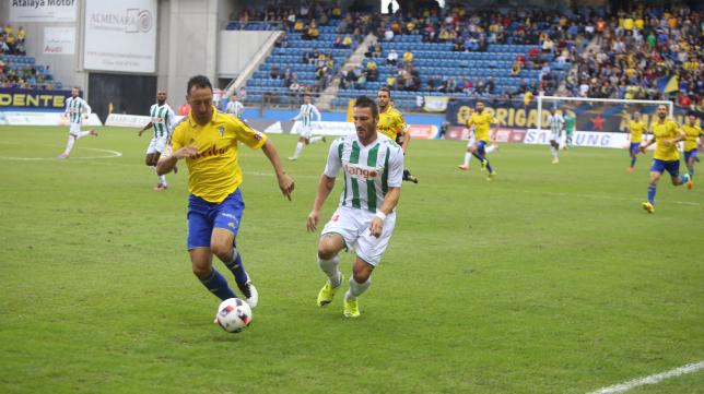 Migue en el partido de Copa del Rey ante el Córdoba