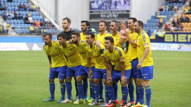 Once del Cádiz CF ante el Córdoba.
