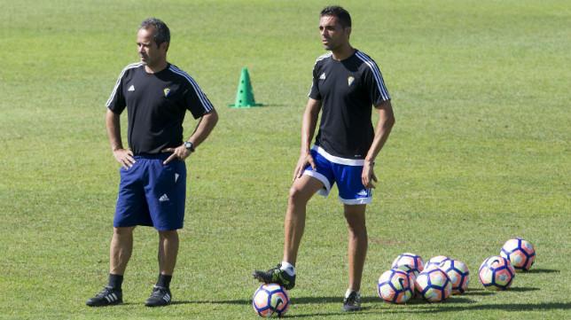 Álvaro Cervera y Roberto Perera vuelven este domingo al estadio donde ascendieron a Segunda.