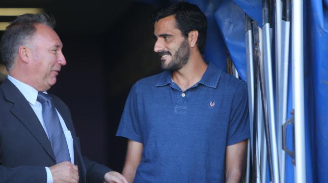 Dani Güiza, en el túnel de vestuarios de Carranza.