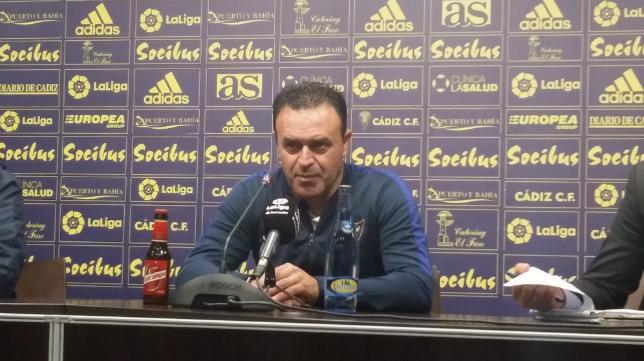 Jose María Salmerón, técnico del UCAM, tras el partido en Carranza